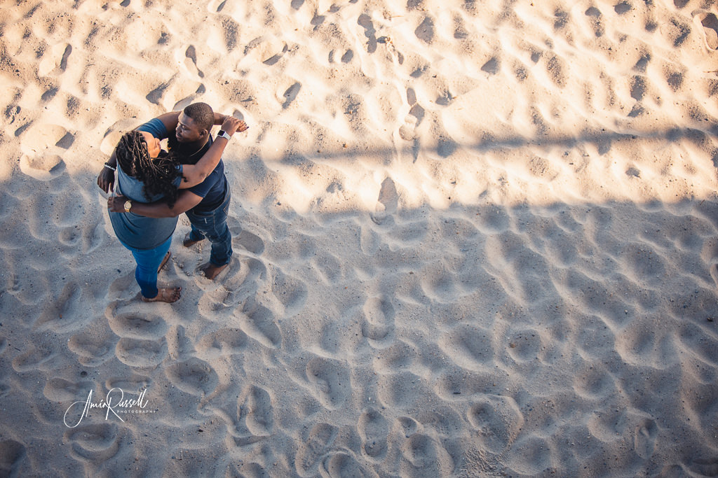 Engagement couple on MS Beach
